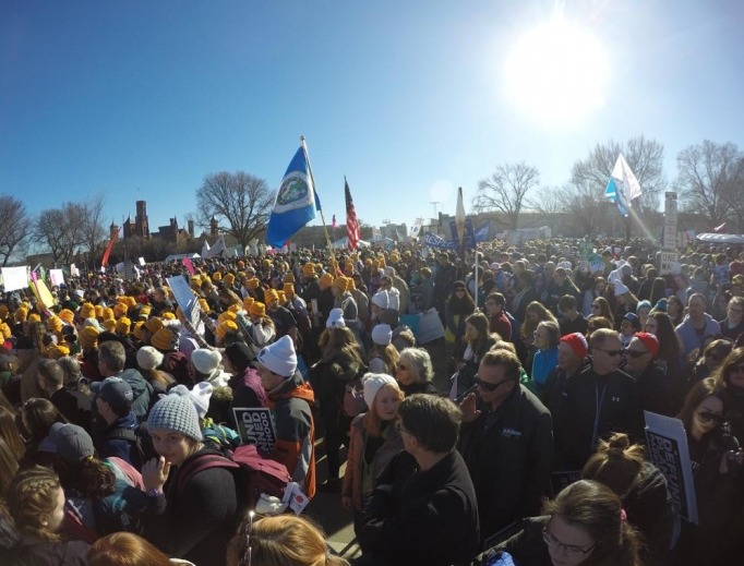 A large pro-life contingent was present at March for Life 2018; a strong turnout is also expected this year.