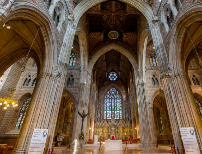 Inside of St Patrick's Cathedral in Armagh,Northern Ireland.