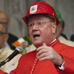 Cardinal Timothy Dolan announcing major restoration of St. Patrick's Cathedral.