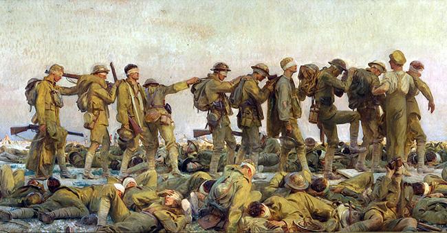 """John Singer Sargent (1856–1925), """"Gassed"""""""