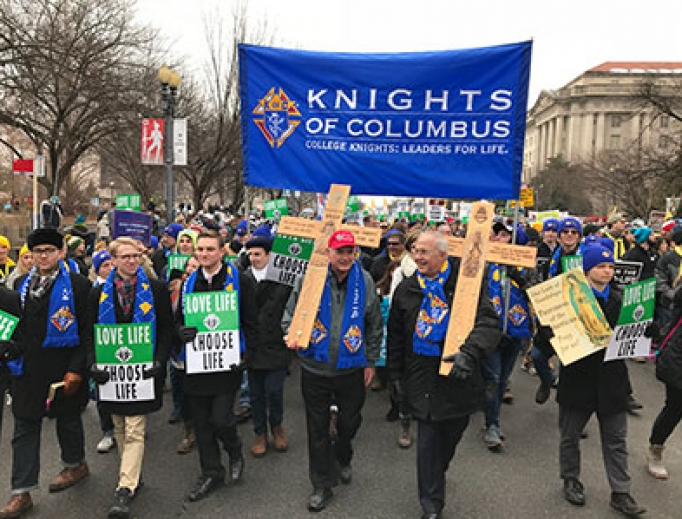 Knights of Columbus at the March for Life, 2019.