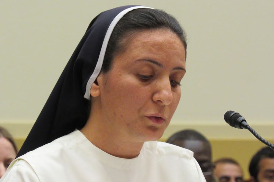 Sister Diana Momeka, OP appeared before the House of Foreign Affairs Committee in Washington D.C. on May 13, 2015.