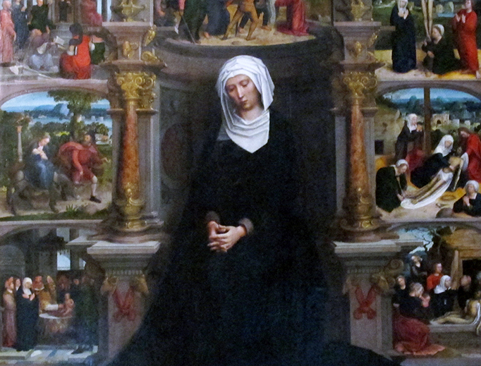 """Adriaen Isenbrandt (c. 1485-1551), """"Our Lady of the Seven Sorrows"""""""