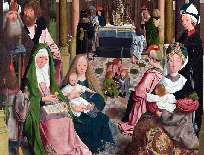 "Workshop of Geertgen tot Sint Jans, ""The Holy Kinship"", c. 1495"