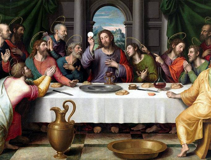 "Juan de Juanes, ""The Last Supper,"" c. 1562"
