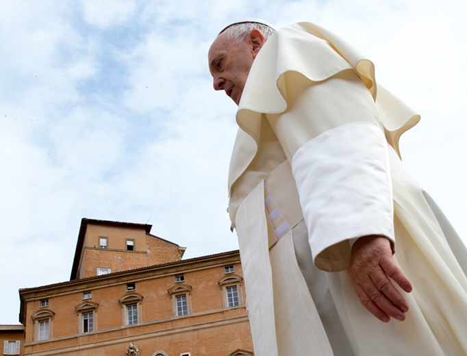 Pope Francis at the general audience in St. Peter's Square on May 23.