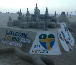 Sandcastle at Rio de Janeiro's Copacabana Beach.