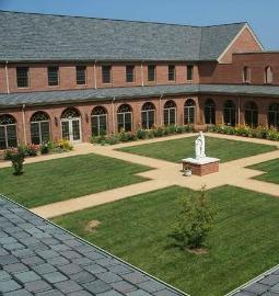 Courtyard of St. Dominic's Monastery in Linden, Va.