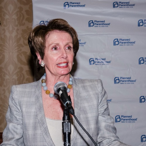 Nancy Pelosi speaks at the Planned Parenthood Federation of America's VIP Reception at the Marriott Wardman Park Hotel on April 25, 2013 in Washington, D.C.