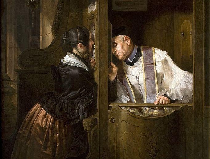 Giuseppe Molteni, The Confession