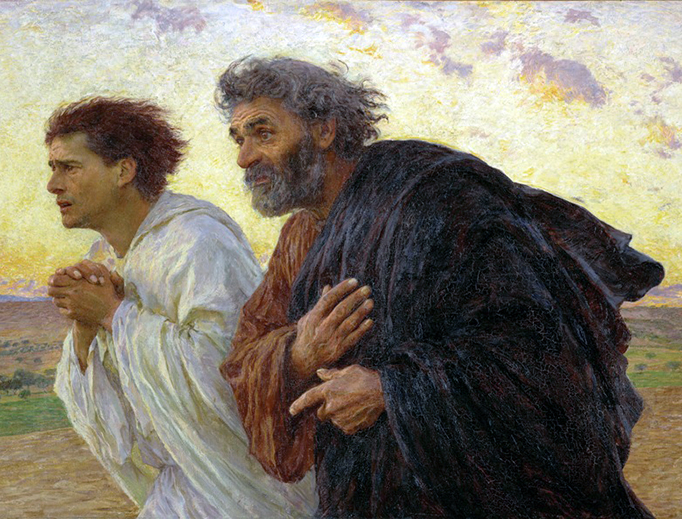 "Eugène Burnand, ""Sts. Peter and John Running to the Empty Tomb"", 1898"