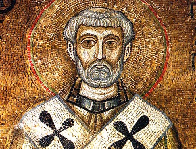 11th-century mosaic of St. Clement from St. Sophia of Kyiv