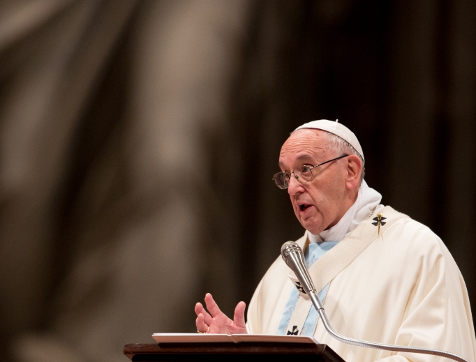Pope Francis preaches in St. Peter's Basilica for the Solemnity of Mary, Mother of God Jan. 1.