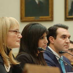 Naghmeh Abedini (c.), wife of Pastor Seeed Abedini, testifies at a Dec. 12 hearing on Capitol Hill.
