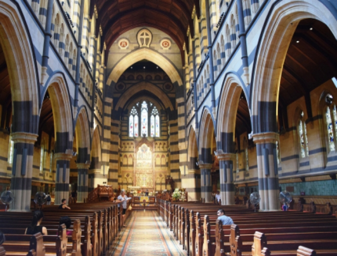 Saint Patrick Cathedral in Melbourne.