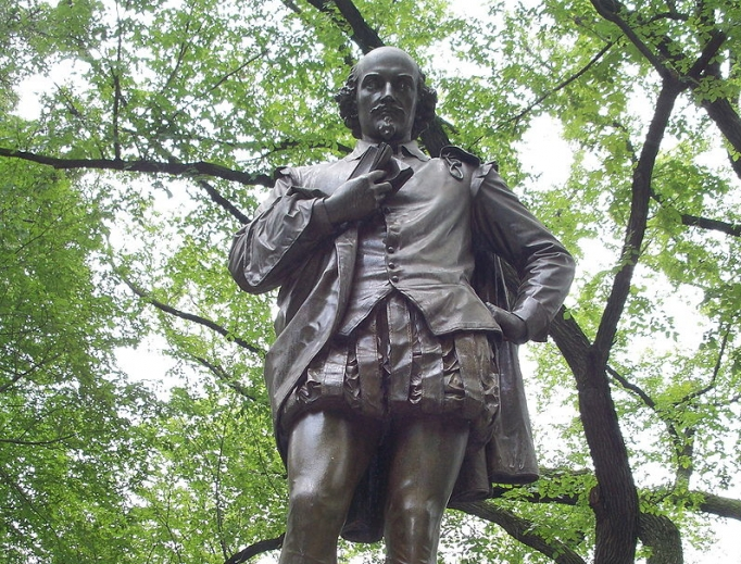 Statue of Shakespeare (1872) in Central Park, New York, by John Quincy Adams Ward
