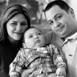 Baby Joseph and his parents