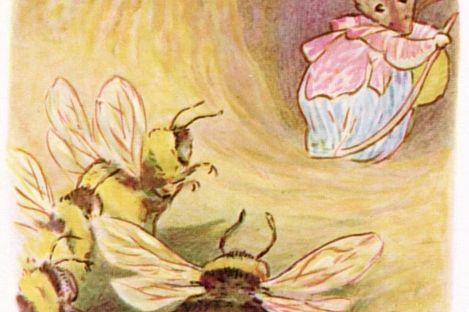 "An illustration from Beatrix Potter's 1910 book, ""The Tale of Mrs. Tittlemouse"""