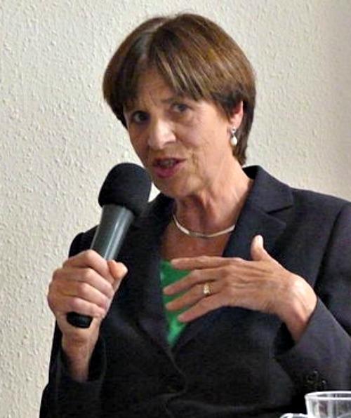 Gabriele Kuby speaks at the Danube Institute in 2014.