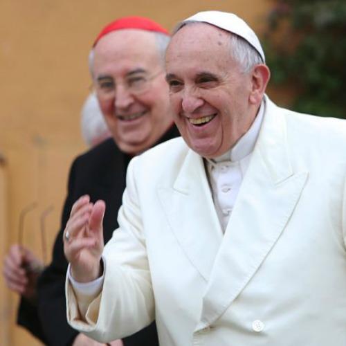 Pope Francis visits a Roman parish.