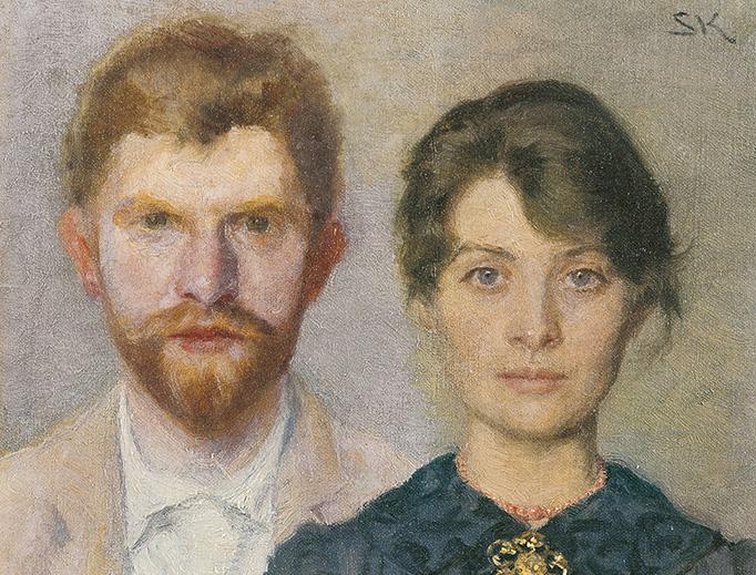 """Peder Severin and Marie Krøyer, """"Double Portrait"""", 1890. Peder Severin was painted by Marie, and Marie by Peder Severin."""