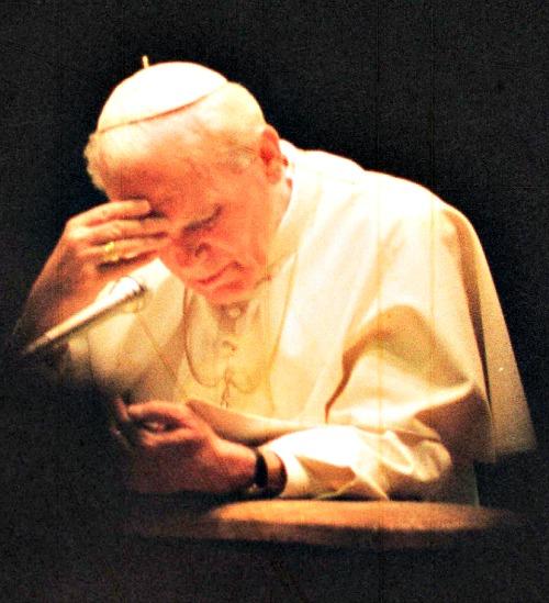 Pope John Paul II in 1991