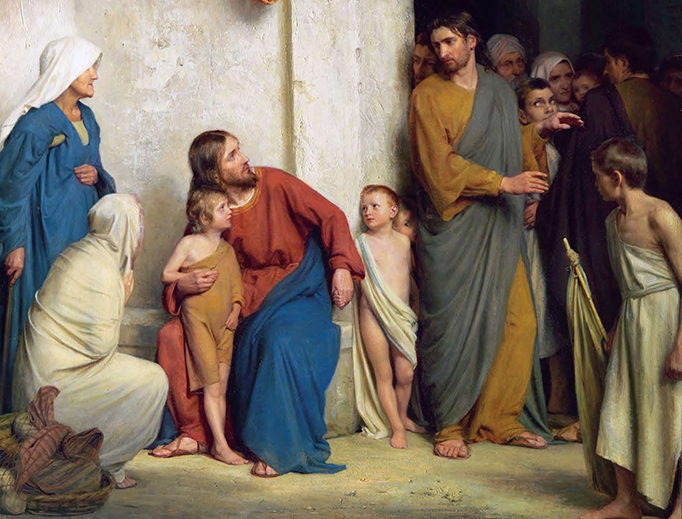 "Carl Heinrich Bloch (1834-1890), ""Let the Little Children Come Unto Me"""