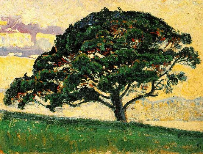 """Paul Signac (1863–1935), """"The Pine, Saint Tropez"""""""