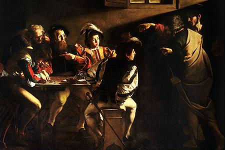 "Caravaggio, ""Call of Saint Matthew,"" ca. 1599"