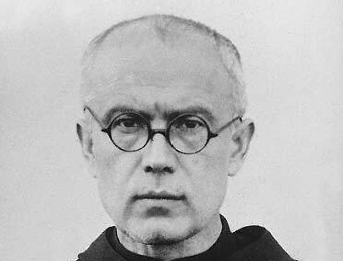St. Maximilian Kolbe as a prisoner in Auschwitz, 1941.