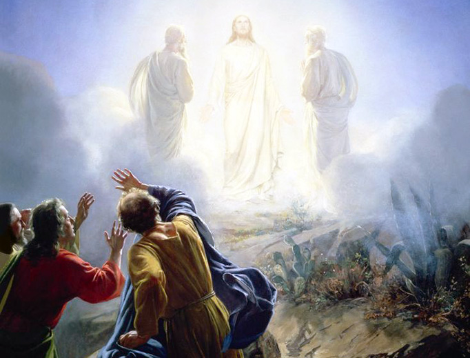 "Carl Bloch (1834-1890), ""Transfiguration of Jesus"""