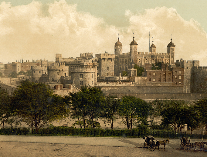 The Tower of London, sometime between 1890 and 1900