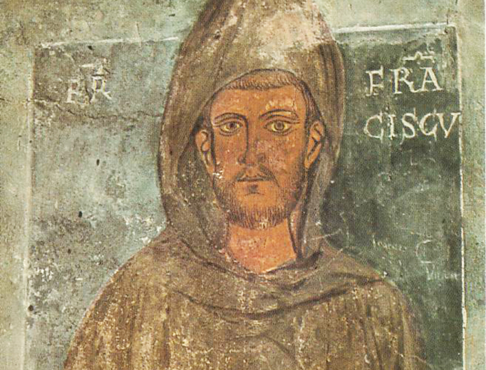 This fresco at the Benedictine Abbey of Subiaco was painted in 1228 or 1229 and is the oldest surviving depiction of St. Francis of Assisi