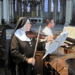 Sister Marie Antoinette recorded Vivaldi's The Four Seasons with international concert artist Michael Matthes in the Cathedral of Sts. Peter and Paul.
