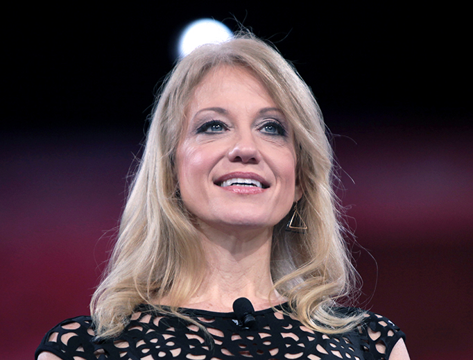 Kellyanne Conway speaks at the Conservative Political Action Conference (CPAC) in National Harbor, Maryland, on March 4, 2016.
