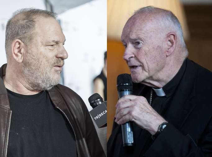 Harvey Weinstein (L); Archbishop Theodore McCormick (R)