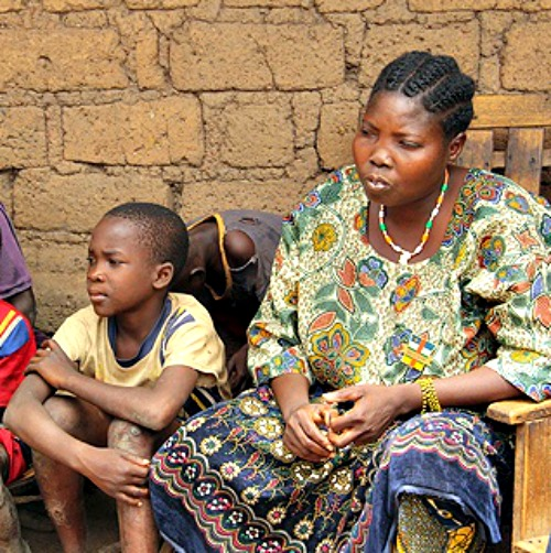 Displaced persons in the Central African Republic.
