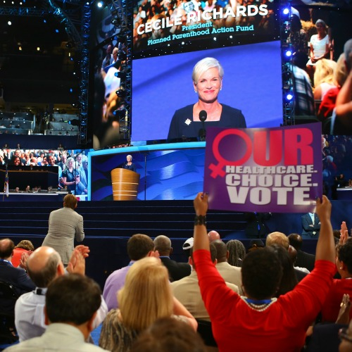 Cecile Richards, president of Planned Parenthood Action Fund, addresses the Democratic National Convention in September 2012.
