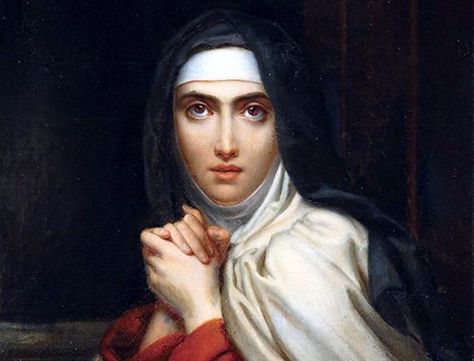 "François Gérard, ""Teresa of Ávila"" (detail), 1827"