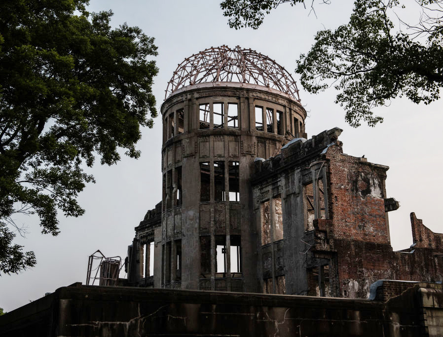 The Atomic Bomb Dome is pictured on Aug. 4, 2020 in Hiroshima, Japan. This Thursday will mark the 75th anniversary of the atomic bombing of Hiroshima in which between 90,000 to 146,000 people were killed and the entire city destroyed in the first use of a nuclear weapon in armed conflict. Survivors and dignitaries including Japan's Prime Minister Shinzo Abe will attend a commemoration that has been scaled back because of COVID-19 restrictions.