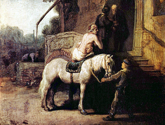 Rembrandt (1606-1669), 'The Good Samaritan'