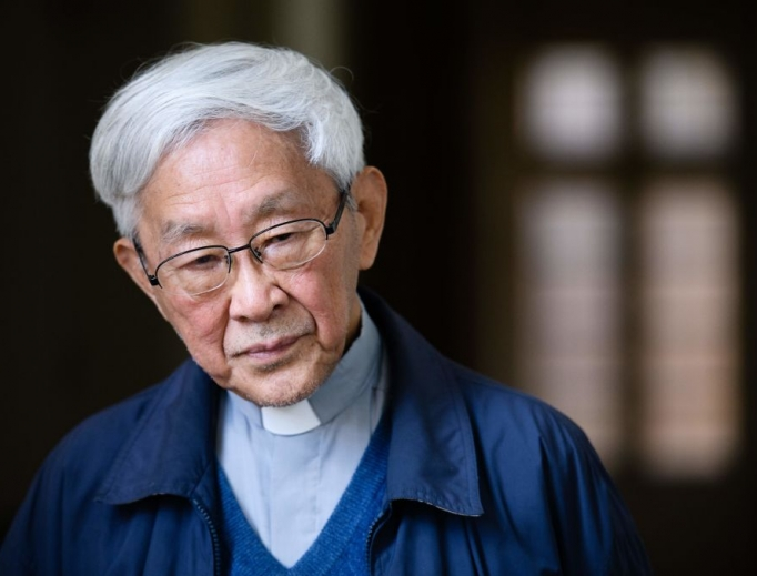 Cardinal Joseph Zen, 86, former bishop of Hong Kong, shown listening to a question during a 2018 interview with AFP in Hong Kong, says of Beijing: 'They've gone back on their promises.'