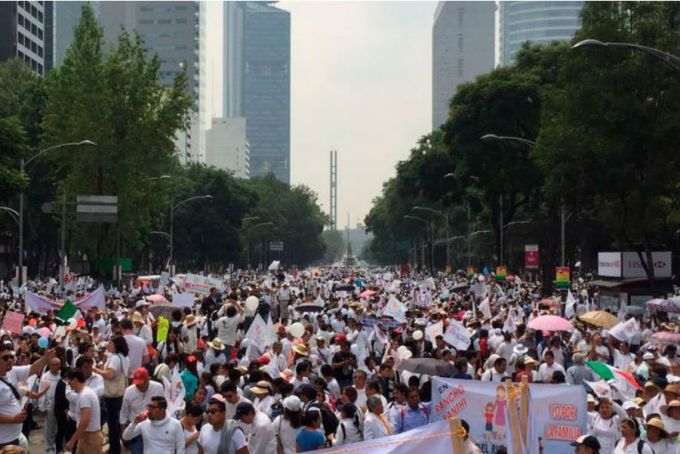 March for the Family in Mexico on Sept. 24.