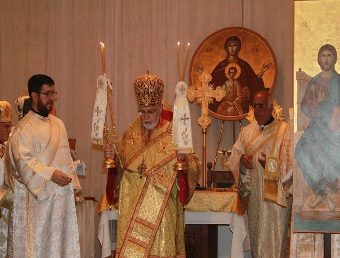 They Divine Liturgy for the 50th Melkite National Convention in Quincy, Mass.