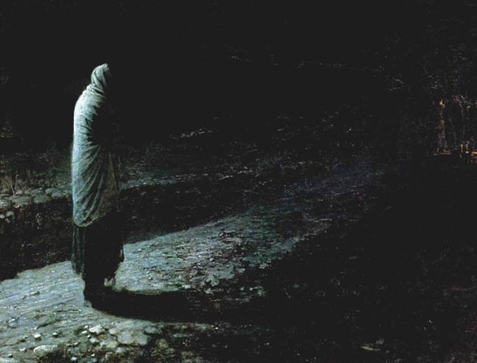"""Nikolai Ge, """"Conscience, Judas"""", 1891"""
