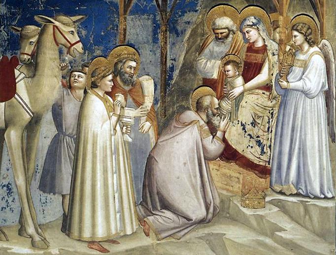 """Giotto di Bondone, """"The Adoration of the Magi"""", ca. 1305"""