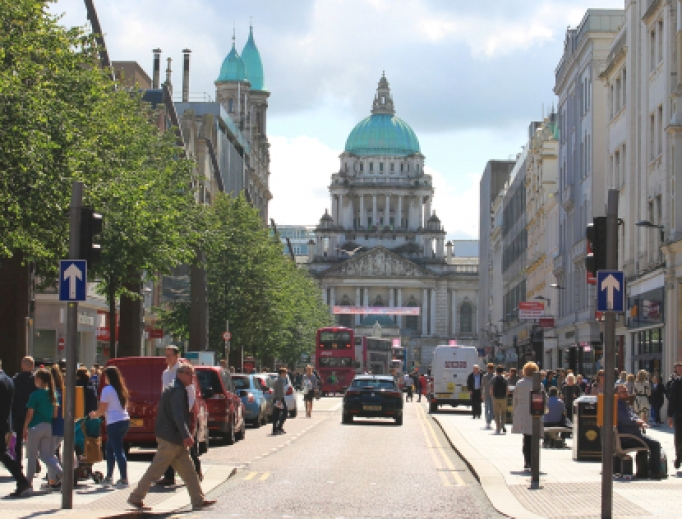 Streets of downtown Belfast.