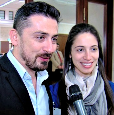 Dan and Julia Calinescu speak with CNA during a May 3 international pro-life leaders conference in Rome.