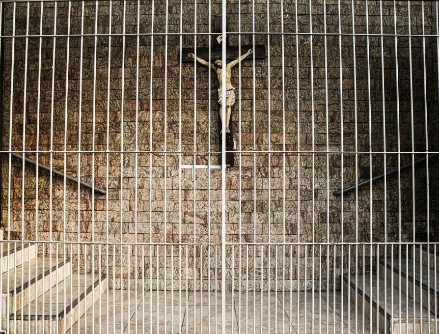 Holy Spirit Church remains closed amid the coronavirus (COVID-19) pandemic on April 2, 2020, in Osasco, Brazil.