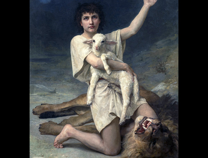"Elizabeth Jane Gardner (1837-1922), ""David the Shepherd"""